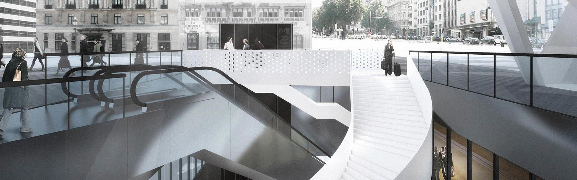 1_renovation and redesign of the rogier square and station