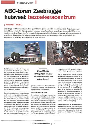 Bouwkroniek - ABC-toren Zeebrugge huisvest bezoekerscentrum