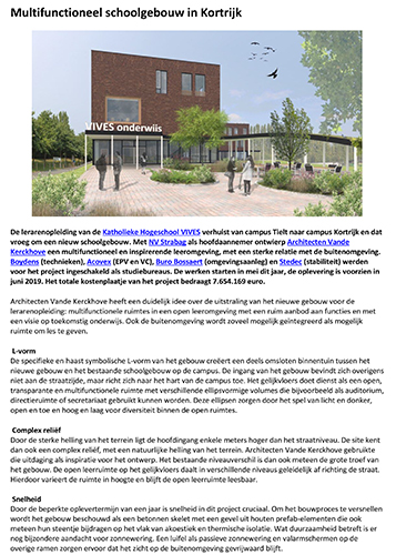 Multifunctioneel schoolgebouw in Kortrijk