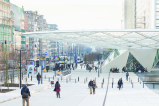 Rénovation et rénovation de Rogierplein et de la station de métro Rogier