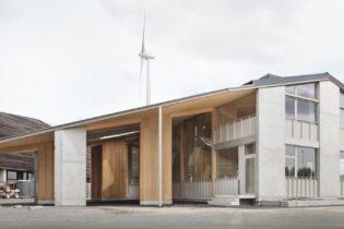 Van Hoorebeke Timber logistiek onthaalgebouw en kantoor