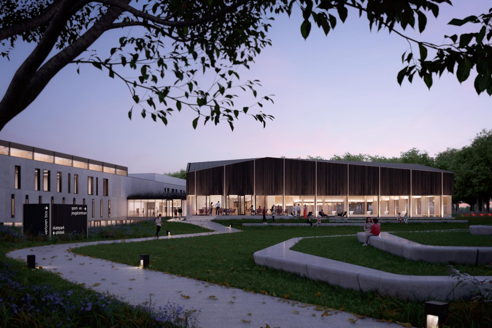 webB2Ai   Zwembad Lokeren   2020 10 28   Beeld 01   Park   algemeen